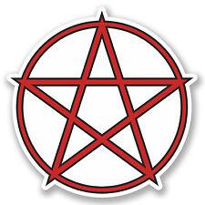 2 x 10cm Pentagram Symbol Vinyl Sticker iPad Laptop Pagan Christian Sign #5249