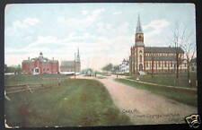 Calais Me~1900 Catholic & Convent-Congregational Church