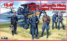 Alemán Luftwaffe programas piloto y personal de tierra 1939-1945 figuras (7) 1/48 ICM