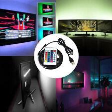 5V USB Flexible LED Tira de Luces Multi Color 5050 RGB Impermeable para TV Fondo