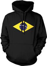 Brazil Flag Insignia Republica Federativa do Brasil Hoodie Pullover Sweatshirt