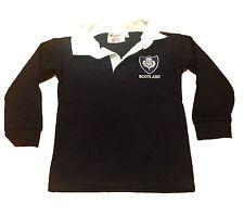 Ecosse Scottish Rugby Shirt bébé enfants childs 3 mois à 14 ans New Retro Bleu Marine