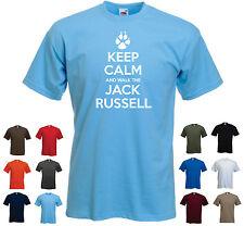 « mantener la calma y a pie el Jack Russell' Funny Pet Perro Cumpleaños corta de Superdry