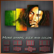 ' Bob Marley ' Music Icon Wall Art Box Split Canvas More Size & Color ~ 4 Panels