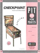 CHECKPOINT Original Promo PINBALL Flyer DATA EAST CHECK POINT 1991 Brochure