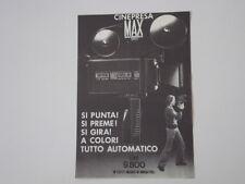 advertising Pubblicità 1974 CINEPRESA MAX