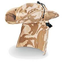 BRITISH ARMY DESERT BUSH HAT - BOONIE HAT - FISHING HAT - ALL SIZES - GENUINE