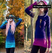 Maglia Manica Lunga con Cappuccio Donna Woman Long Sleeve T-Shirt Hoodie 561010