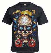 ROCK SKULL T-Shirt/Tattoo/Mexican/Sugar Skull/Biker/Goth/Metal/Roses/Gift/Top