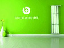 Dr Dre Beats Logo Headphones Music Wall Sticker Vinyl Decal Wall Art Transfer
