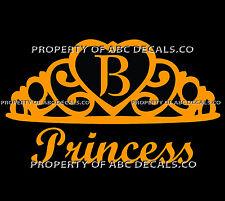 VRS Crown Royal Tiara Queen Princess Heart Love Custom INITIAL B Car VINYL Decal