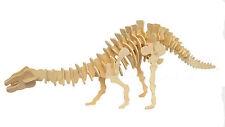 Brontosaurus Dinosaur Jigsaw 3D Wooden Model Kit Jurassic  Intelligence Puzzle