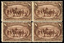momen: Us Stamps #289 Block of 4 Mint Og Hr/Nh Cv$1,330
