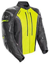 Joe Rocket Men's Atomic 5.0 Black/Hi-Viz Waterproof Armored Motorcycle Jacket