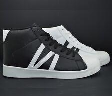 Sneakers alte scarpe sportive donna scarpe da ginnastica eco pelle unisex
