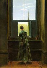 Caspar David Friedrich - Out of the Window Vintage Fine Art Print
