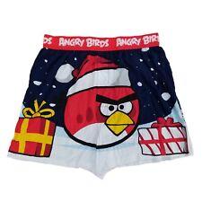 Angry Birds Mens Navy Christmas Gifts & Bad Piggies Holiday Boxer Shorts
