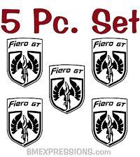Pontiac Fiero GT Wheel Center Cap Emblems Vinyl Decal Your Color Choice Sticker