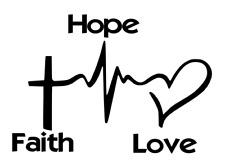 Faith Hope Love Modern Car/Van Sticker (Vinyl Decal) Window wall trendy item