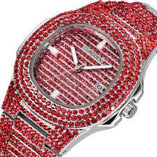 Luxury Women Dress Watch Full Rhinestone Ceramic Crystal Dial Band Quartz Watch