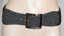 CINTURA donna marrone stringivita brillantini chiodini argento bustino belt 240