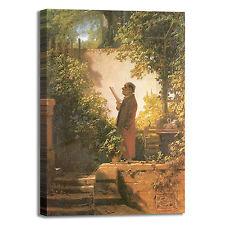 Spitzweg lettori nel giardino quadro stampa tela dipinto telaio arredo casa