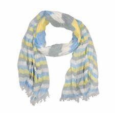 Sciarpa uomo donna multirighe multicolor blu gialla bianca azzurra in cotone 31382bc4a5ff
