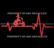 VRS HEART BEAT LINE SCOOTER Electric Gas Girl Heels Helmet Vespa CAR METAL DECAL