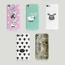 iPhone Samsung Hard Phone Case Sheep Animal Drawing Gift Mammal Cute