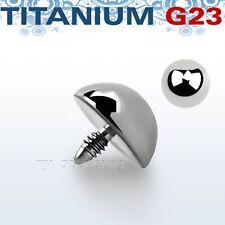 Solid G23 Titanium Internally Threaded 14G Dome Dermal Anchor Top 3mm 4mm 5mm