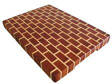 Egzotyczna deska do krojenia, kuchenna, drewniana, gruba, pionowe włókna, cegła