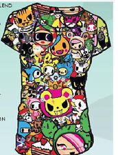 Tokidoki Gathering All Over Women's T-shirt Anime Licensed NEW