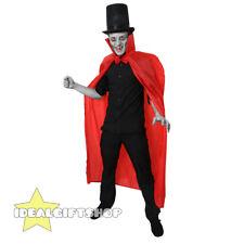 RED CAPE HALLOWEEN VAMPIRE FANCY DRESS COSTUMES MENS WOMENS HIGH COLLAR CLOAK