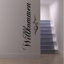 Wandtattoo Willkommen Design Wanddekoration für Diele Flur Eingang Wohnraum Deko