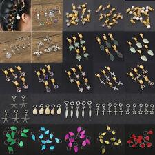 Alloy Metal Dreadlocks Beads Hair Braid Cuffs Dread Adjustable Clip Long Pendant