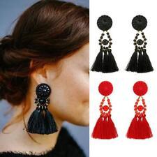 Fashion Boho Dangle Ear Earrings Women Long Tassel Fringe Party Jewellery