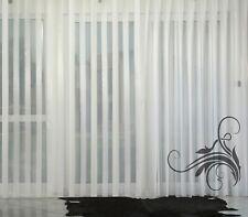 Fertiggardine VOILE Store Streifenvoile weiß mit Faltenband&Bleiband CLASSIK