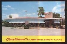 Postcard Bartow, Florida/FL Chartrand's Restaurant view 1950's