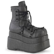Demonia Gothic Goth Punk Platform Boots Stiefel Plateauschuhe - Bear-120 Grau