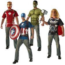 Superhero T-Shirts Adult Marvel Avengers Halloween Costume Fancy Dress