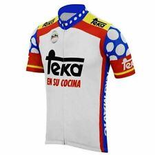 1977 Retro Team Teka Vintage cycling Short Sleeve Jersey mens Cycling Jersey