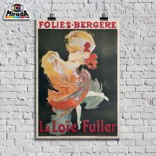 POSTER LOCANDINA VINTAGE FOLIES BERGERE FULLER 1980 PARIGI TOP QUALITY GRAPHICS