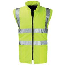 Mens Raiken Hi Vis Reversible Bodywarmer Visibility High Viz Work Vest Yellow