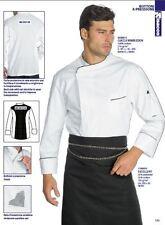 GIACCA CUOCO CHEF ISACCO WIMBLEDON 100% COTONE BIANCA JACKET Kochjacke куртка