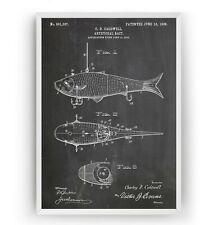 Fishing Artificial Bait Patent Print - Poster Sports Art Decor Gift - Unframed