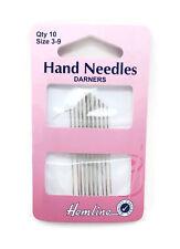 Hemline Hand Sewing Darner Needles Pack - Choice of Size