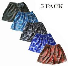 Mens Thai Silk Boxer Shorts / 5 Pairs Underwear Paisley Loose Boxers M L XL 2XL