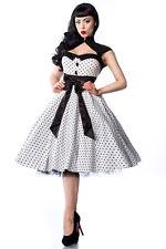 Rockabilly-Kleid Polka Dot weiß/schwarz *Retro*50er Jahre Style*NEU*