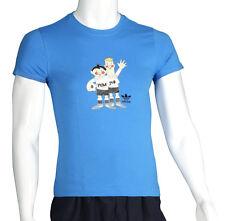 Adidas Damen Kultshirt Klassiker WM 1974 Tip Tap Tee T - Shirt blau S M   B-4-2