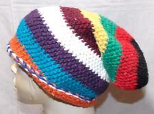 Fair Trade HAND Knit Multi Colore Stile Boho Hippy Festival Slouch Cappello Beanie Skater